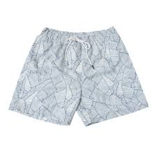 100 Coco Republic Sale Mens Leafy Board Shorts In White