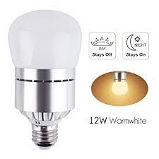 led dusk to sensor light bulb 12w 1200lm e26 socket 3200k