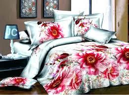 Summer Duvet Covers Spring Printing Peony Flower Design Bedding