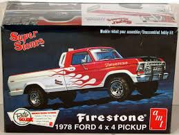 1978 Ford 4x4 Pickup Firestone AMT 858 1/25 New Truck Model Kit ...