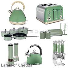 Morphy Richards Sage Green Kitchen Set Accents Range Including Kettle Toaster