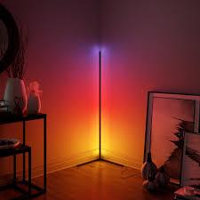 moderne led ecke rgb boden le für schlafzimmer nacht wohnzimmer atmosphäre bunte wohnkultur innen beleuchtung stehend len