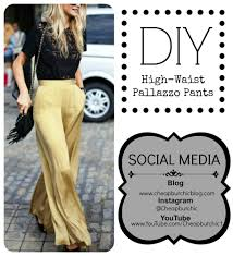 sew with me high waist pallazzo pants youtube