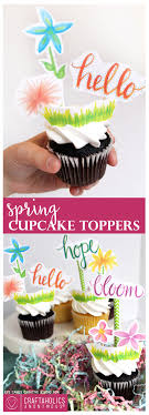 Free Printable Spring Cupcake Toppers So Colorful And Cute Perfect For A Garden