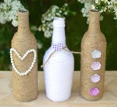 Rustic Wedding Craft DIY Wine Bottle Centerpieces