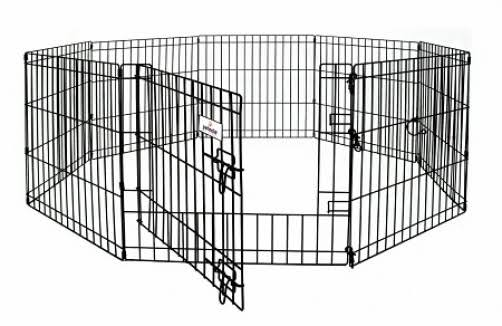 "Petmate Metal Wire Safety Pet Fold up Play Pen - 8 Panels, 24""x24"""