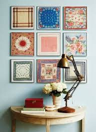 Why Dont You Frame Vintage Handkerchiefs And Hang Them On The Wall