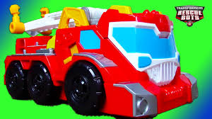 Fire Trucks For Kids: Transformers Rescue Bots Toy UNBOXING: Elite ...