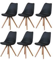paket 6x esszimmerstuhl nelle küchenstuhl esszimmer küche stuhl stühle eiche schwarz dynamic 24 de