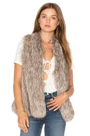 Cupcakes And Cashmere Rosette Faux Fur Vest Natural Womencupcakes Pacific DressShop