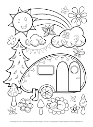 Free Happy Campers Coloring Page By Thaneeya Mcardle