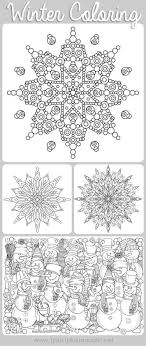 Winter Doodle Coloring Pages Free Printables Featuring Snowmen Snowflakes And Adorable Scenes