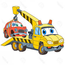 100 Tow Truck Vector Photostock Cartoon Vehicle Transport Evacuator With