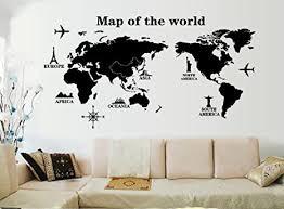ufengke reisen um die welt weltkarte wandsticker wohnzimmer schlafzimmer entfernbare wandtattoos wandbilder a