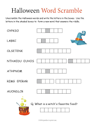 Halloween Brain Teasers Worksheets by Halloween Sudoku Puzzle