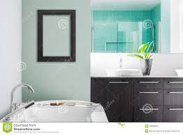 modernes badezimmer unter verwendung der weichen grünen