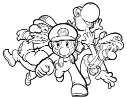 Bros Coloring Pages Mario Brothers Pdf Kart Characters Super Online Large Size