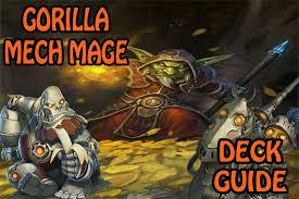 hearthstone deck list mech mage season 21 deck guide gorilla mech mage 2p hearthstone
