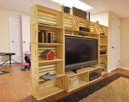 Delightful Wooden Crate Tv Stand Diy Mveis Feitos Com Caixote De Feira Caseirices Kids