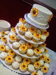 Cake Images For Baby Shower Best Sunflower Wedding Cakes Ideas On Cupcakes