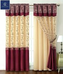 curtains with attached valance teawing co
