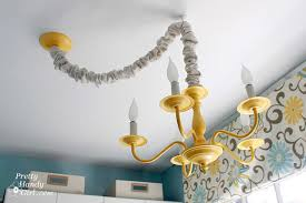 how to swag a light fixture pretty handy