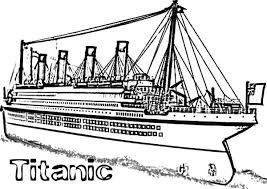 Titanic Cruise Ship Coloring Pages