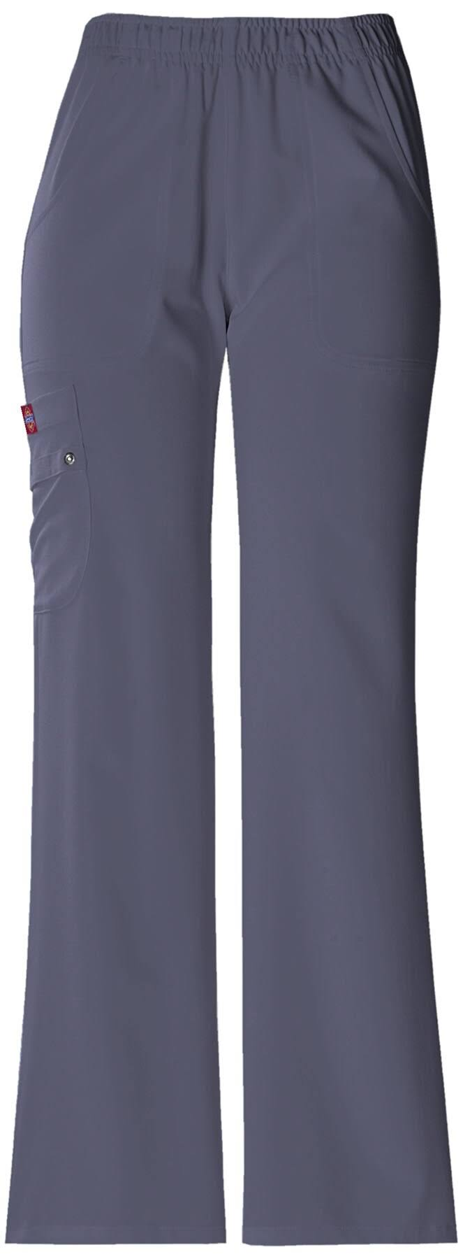 Dickies Women's Xtreme Stretch-Fit Elastic Waist Pant Scrub Bottoms - Light Pewter, X-Large