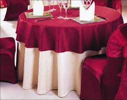 Round Overlay Underlay Square Table Cloth
