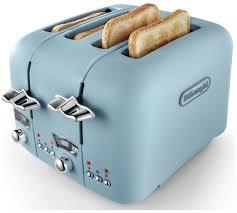 DeLonghi CTO4 Argento Flora 4 Slice Toaster
