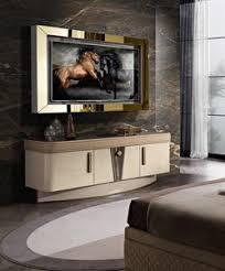 tv ständer mit verstellbaren glasregalen idfdesign