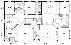Triple Wide Modular Homes Floor Plans by Triple Wide Mobile Home Floor Plans Mobile Home Floor Plans In