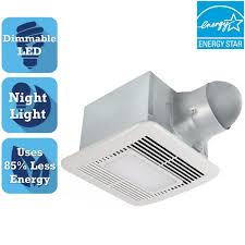 Ductless Bathroom Fan With Light by Hunter Riazzi Decorative 110 Cfm Ceiling Bath Fan With Cased Glass