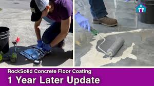 Rocksolid Garage Floor Coating Kit by Rocksolid Garage Coating 1 Year Later Youtube