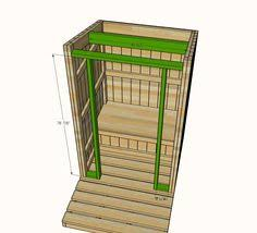 ana white build a outhouse plan for cabin free and easy diy