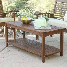 Boardwalk Dark Brown Acacia Wood Outdoor Coffee Table
