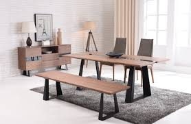 Modern Dining Room Sets by Corey Modern Walnut U0026 Glass Dining Table