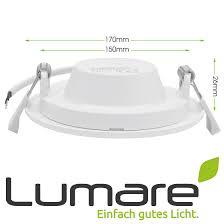 lumare led einbaustrahler 12w 800lm 230v ip44 ultra flach wohnzimmer badezimmer einbauleuchten weiss 26mm einbautiefe