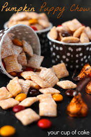 Pumpkin Spice Chex Mix With Candy Corn by Pumpkin Puppy Chow Your Cup Of Cake