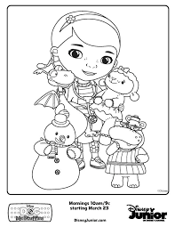 Full Image For Doc Mcstuffins Printable Coloring Pages Friends Free