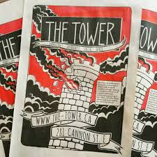 Promotional Posters For The Tower 11x17 Brightred And Black On 30lb Newsprint
