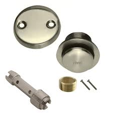 Bathtub Drain Stopper Removal Lift And Turn by Brushed Nickel Toe Touch Conversion Kit Tub Drain Overflow And