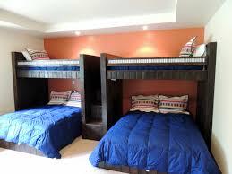 Full Over Queen Bunk Twin Double Custom Beds Rustic Perpendicular