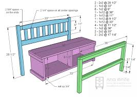 Free Plans To Build A Storage Bench by Ana White Cottage Bench With Storage Cubbies Diy Projects