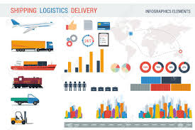 100 Truck Route Map Logistic Elements For Infographic Different Cities And S