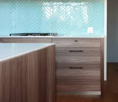 Glass Tiles For Backsplash by Beautiful Aqua Color Glass Tile Kitchen Backsplash In Herringbone