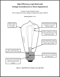 high efficiency light bulb with incandescent look create the