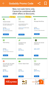 Promo Code For GoDaddy - Promo Code AZ For Android - APK ... Godaddy Coupon Code Promo 2019 New 1mo Deal Transfer Your Us Domain To For Only 099 Codes Hosting 99 Coupons Renewal Latest Black Friday Cyber Monday Deals Save 75 Buy Domain Name Godaddy Rs125 Flat Off Kevin Derycke Vinmakemoney On Pinterest How Use Updated Promo Code Domahosting By Webber Alex Issuu Get Com Name In Just Rupees Offer April Godaddy