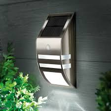 cole and bright led solar flush wall light with pir sensor black