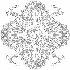Deer Mandala To Color From Nature Mandalas Coloring Book